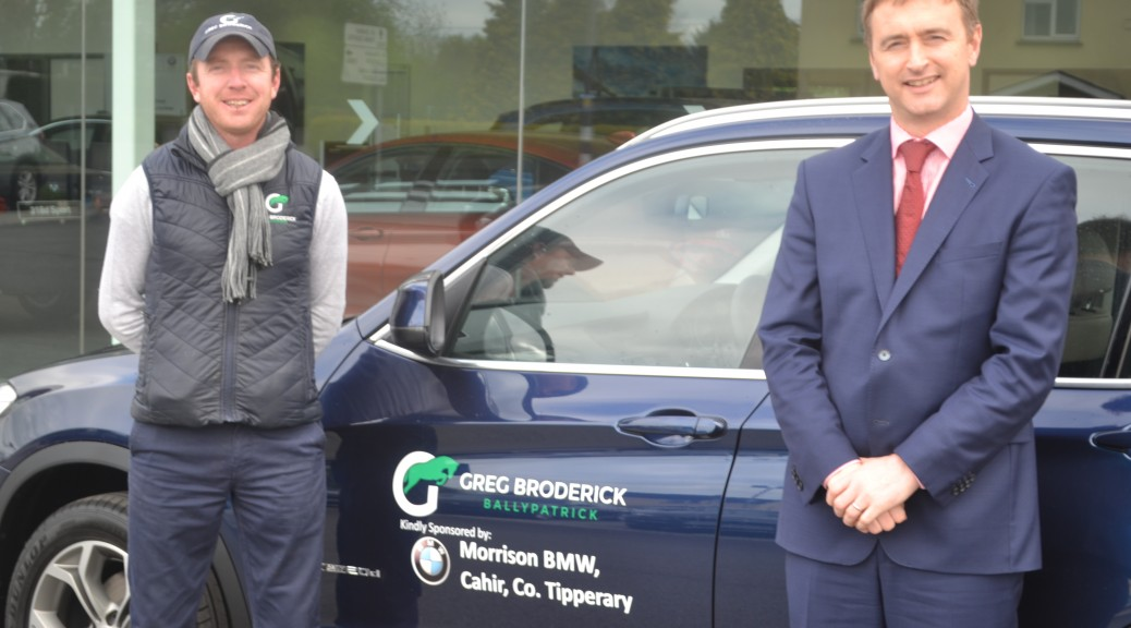 Motor Industry Gets Behind Olympian Greg Broderick Cahir News